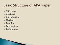 Format for writing apa research paper